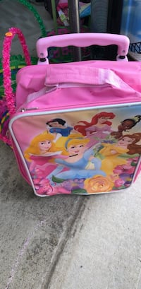 pink and purple Disney Princess print bag London, N6L