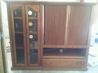 brown wooden TV hutch with cabinet Encinitas, 92024