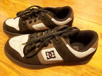 Women's DC Manteca 3 Model Brown And Tan Hemp Leather Suede Skateboard SKATE Sneakers Shoes Size 9 SUPER RARE & Collectible Boston