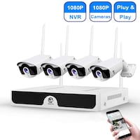Wireless Security Camera System 4 Channel 1080p HD NightVision MONTREAL
