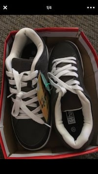 Pair of black-and-white nike sneakers Portland, 97229