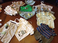 Lot 3-6 mn baby boy summer clothes, in EUC