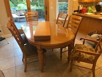 Kitchen table seats 8 with extension, protector and 6 chairs, Holbrook, 11741