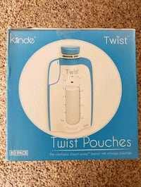 New* Kiinde Twist 80 pack pouches 6 oz holds milk baby food sterilized Leesburg, 20175