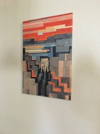 The Scream - by Adam Lister 8-bit spin on classic masterpieces CHARLOTTE