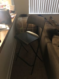 Black metal frame chair College Park, 20742