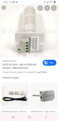 Dectron Ht800 humidity sensor uses but works fine