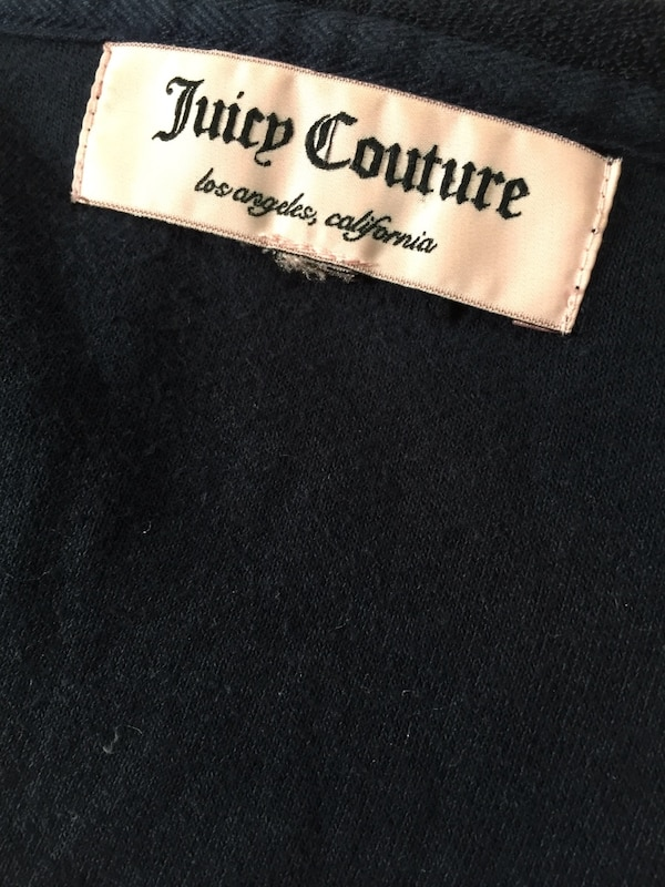 JUICY COUTURE Zip Up Hoodie Sweater: Size XS f03737bf-ea1f-46c8-88f0-cb9f87ae1653