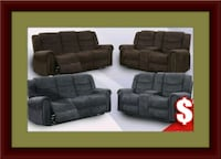 Grey or chocolate recliner set free delivery Falls Church, 22041