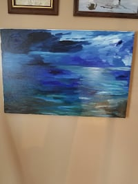 Original oil on canvas abstract