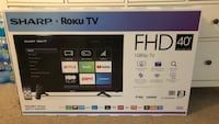 Brand New Sharp Smart TV w/ Roku 40Inch 41 km