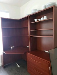 solid office desk and leather chair Gresham
