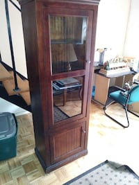 brown wooden glass cabinet 37 mi