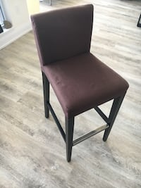 black leather padded brown wooden chair Toronto, M4L 3P3