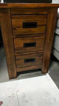 3 drawer End table cabinet on display in our store in Chelsea  New York