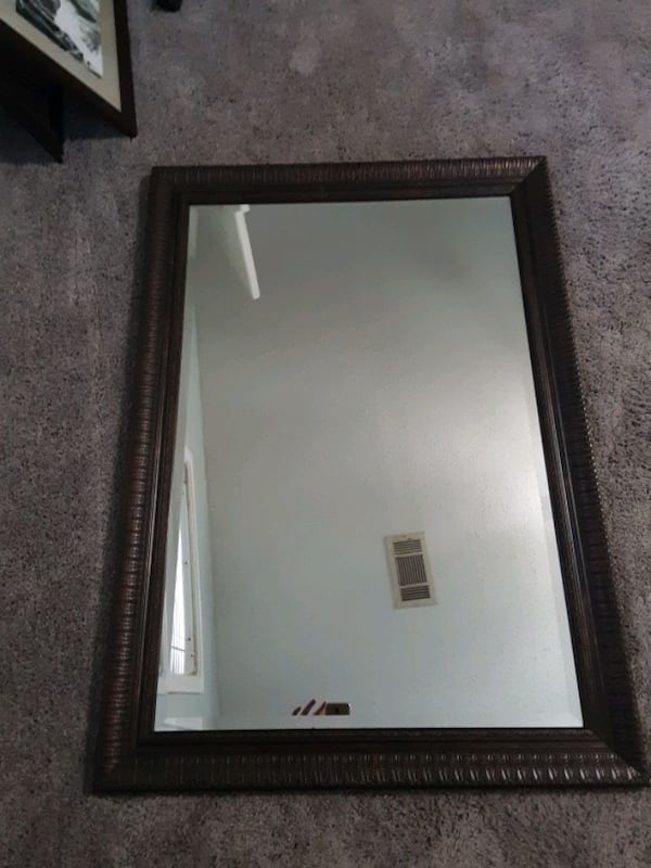 Decorative Framed mirror 24x36 a941a286-e388-43ca-a16b-7608c966e8c2