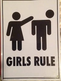 Girls rule sign Brookeville, 20833