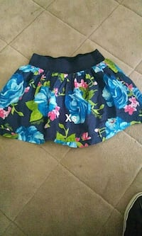 blue, green, and pink floral mini skirt Rockford, 61104