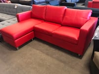 Red Bonded Leather Sectional  Phoenix, 85018