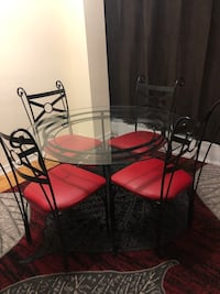 Clean dining table for four. Toronto, M4B 1A9
