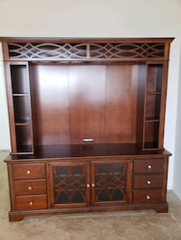 "Bob's Furniture - Entertainment Center Wall Unit with 55"" TV Console"