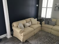 Custom Ivory Couch and Loveseat Rockville, 20853