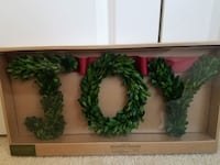 New JOY boxwood holiday christmas banner - $20