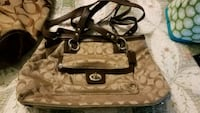 brown and black Coach leather tote bag Middletown, 21769