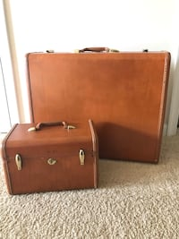 Vintage 1950s Samsonite suitcase and train case  Hampton, 23665