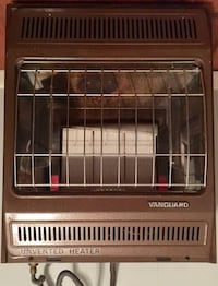 brown Vanguard unvented heater - puts out a lot of heat. In good condition and works well. Just don't need anymore