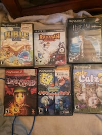 5 ps2 games 1 ps3 Chester, 19013