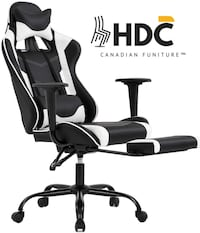 Brand New White Gaming Chair With Leg Extension