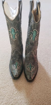 Corral Boots Women's Distressed Black/Turquoise  Boot  Virginia Beach, 23456