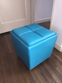 Teal Storage Ottoman Cube w/ Tray Lid Los Angeles, 90019
