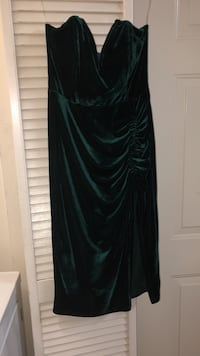 women's green velvet spaghetti-strap surplice sheath dress Gaithersburg, 20877