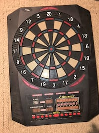 Black, red, and beige cricket electric dartboard Lansing, 48906
