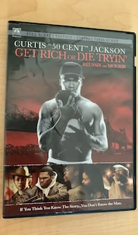 DVD Movie: 50 Cent Get Rich or Die Tryin' hip hop legend story CD