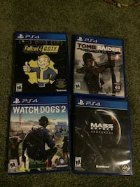 Lot of 4 PS4 games Omaha, 68134