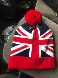 red and white knit cap Fort Wayne, 46803