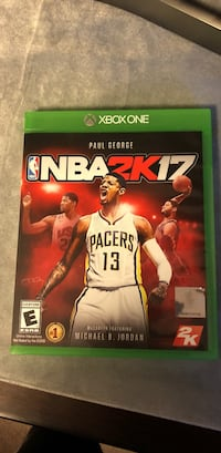 NBA 2K17 Xbox One game case