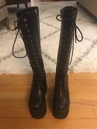 Hot Topic Sold Out Size 7 Unisex Platform Boots Brodheadsville