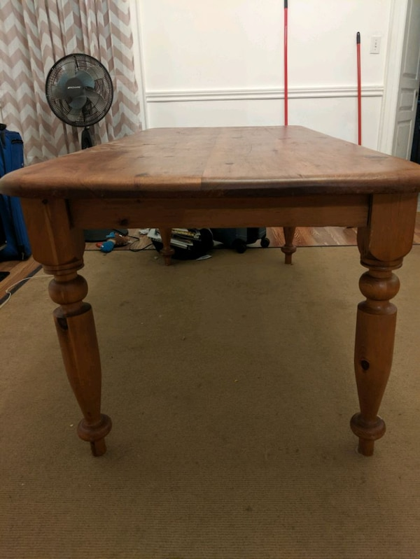 Large wooden hand crafted table  b28c148a-23cb-4786-b0b1-043e1af325c7