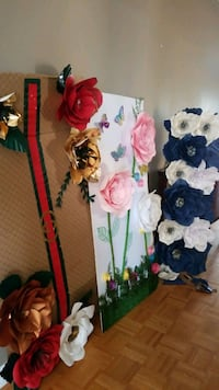 7 paper flowers backdrops for sale. all of them for $180 Brampton, L6P 0H1