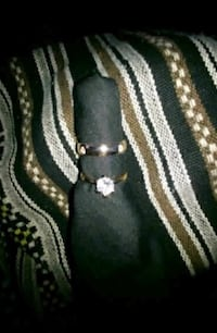 Brand new engagement ring and wedding band*10k rose gold with white sapphires size 6 1/2 Regina, S4T 1A9
