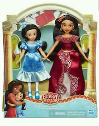 Elena with isabel disney dolls brand new in box