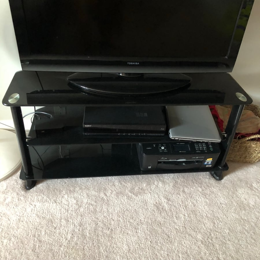 Selling glass tv stand