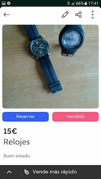 Black digital watch captura de pantalla