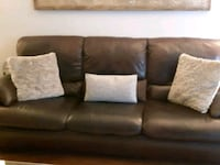 brown leather 3-seat sofa Burlington, L7L 1X4
