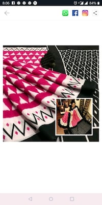 white and black chevron print textile Mumbai, 400011