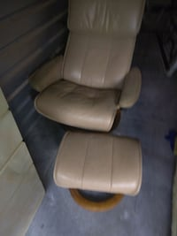 Leather chair and ottoman West Palm Beach